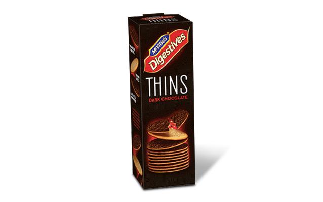McVitie's Digestive Thins Dark Chocolate 180g