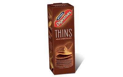 McVitie's Digestive Thins Milk Chocolate 180g