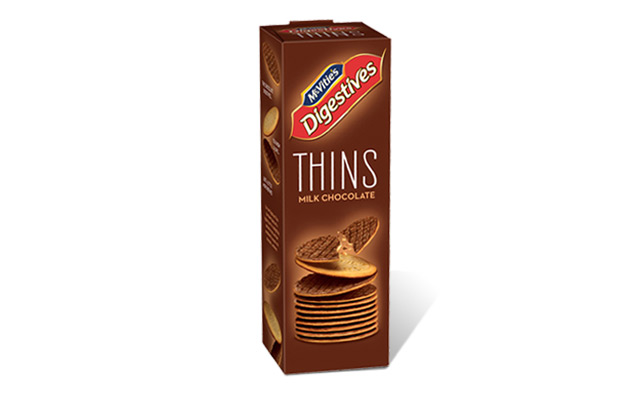 McVitie's Digestive Thins Milk Chocolate 180g