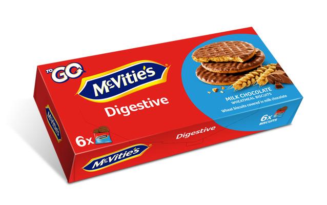 McVitie's Digestive ToGo Milk Chocolate 6×33,3g
