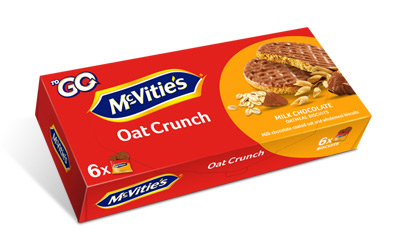 McVitie's Oat Crunch ToGo Milk Chocolate 6×37,5g