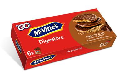 McVitie's Digestive ToGo Dark Chocolate 6×33,3g
